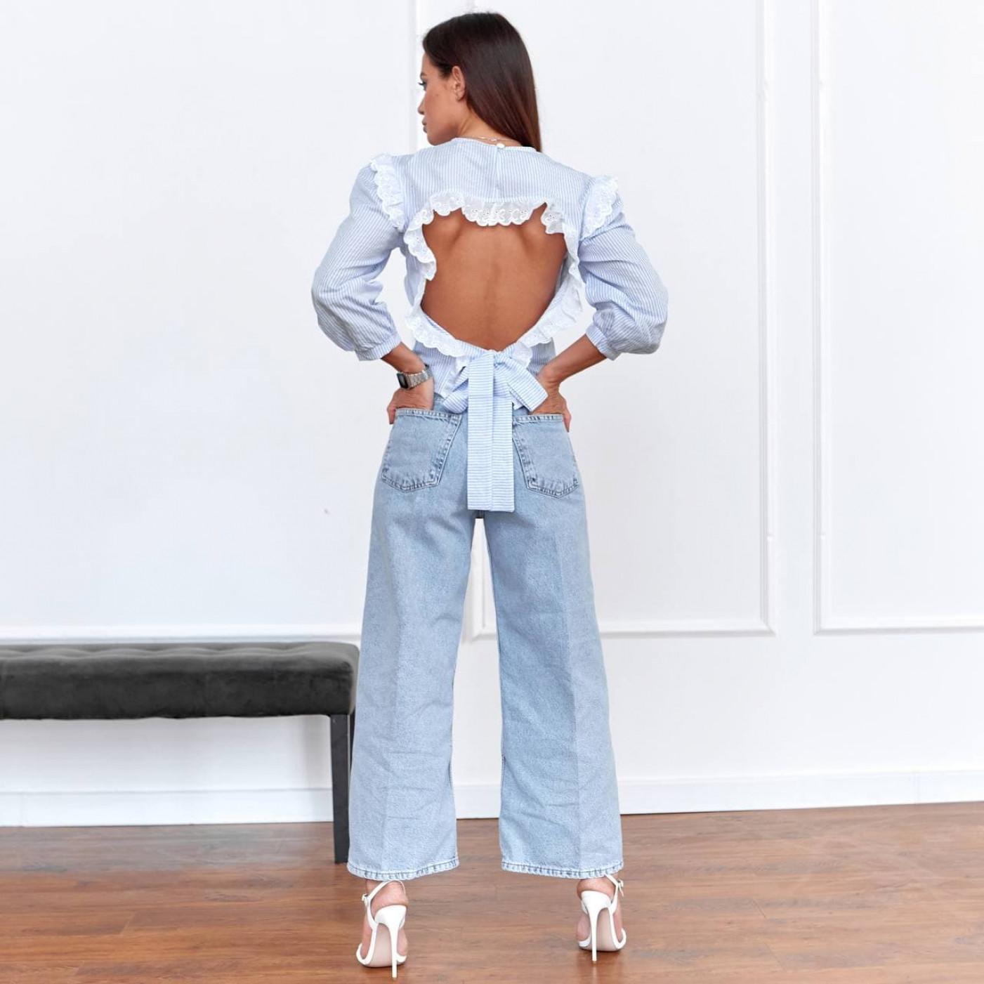 Блуза з вирізом на спині 11117-1