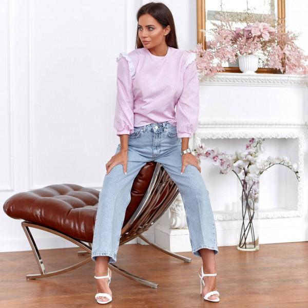 Блуза з вирізом на спині 11117-2