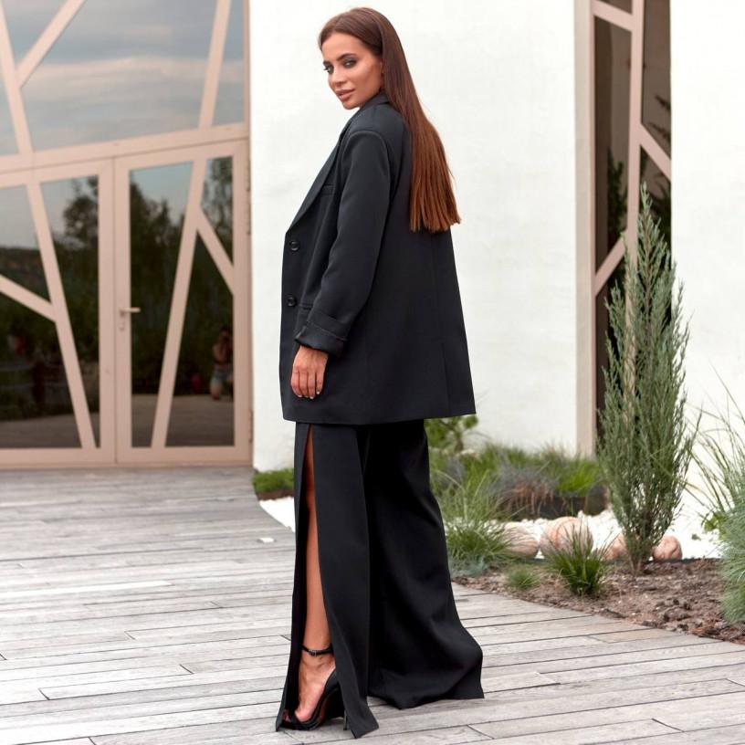 Стильний костюм - двійка з незвичайними брюками 11860-1