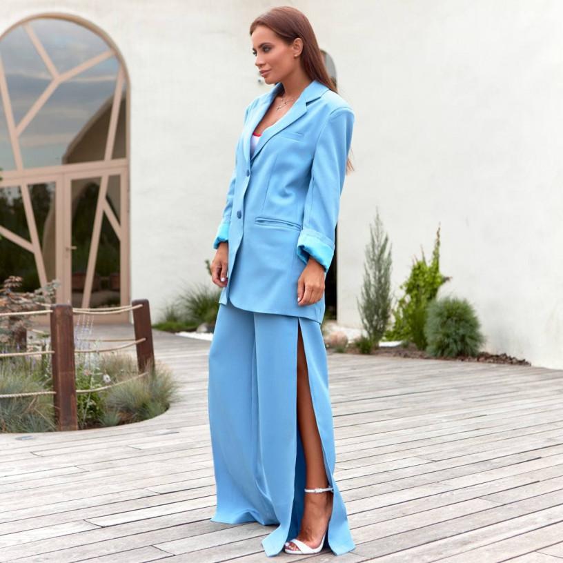 Стильний костюм - двійка з незвичайними брюками 11860-2