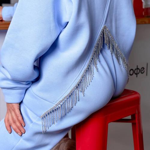 Костюм штаны+худи с необычным вырезом 11729