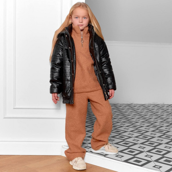 Детская куртка кожа-питон 11720