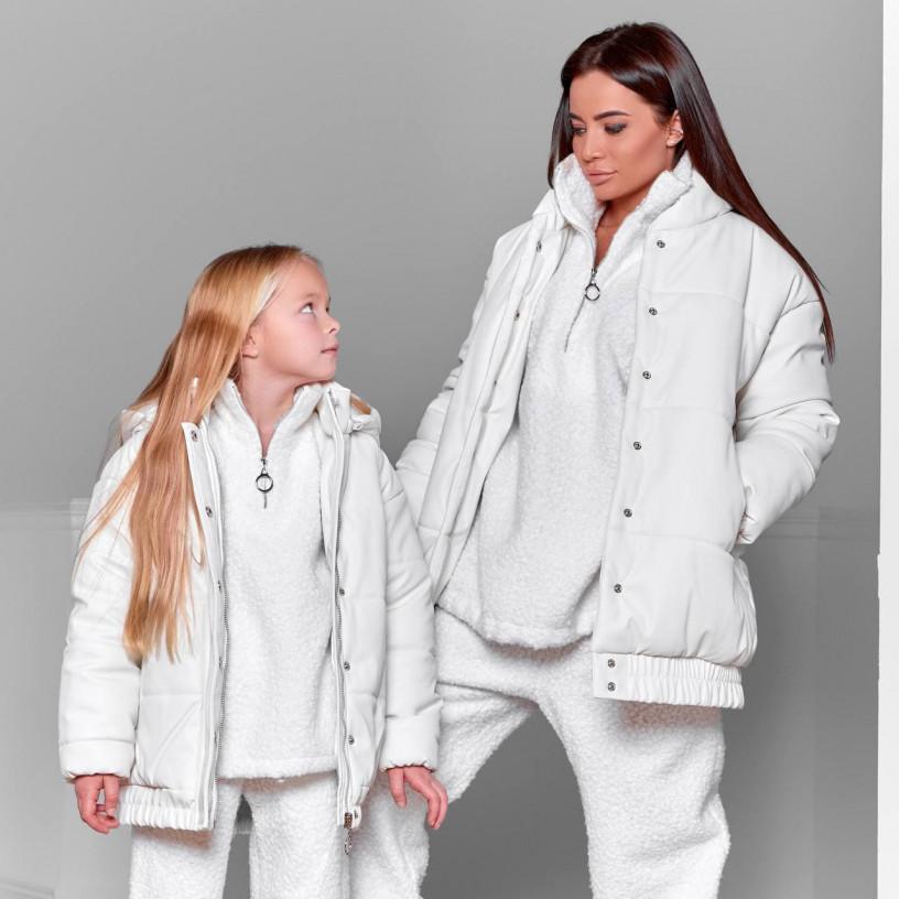 Дитяча куртка екошкіра утеплена 11719