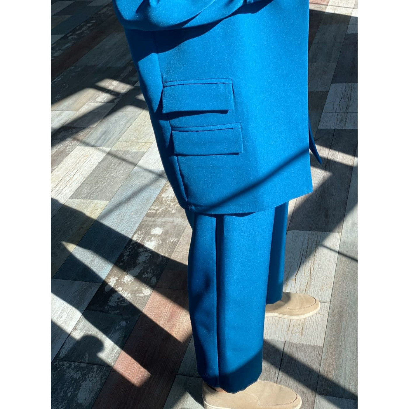 Класичний костюм-трійка з високими брюками 11651