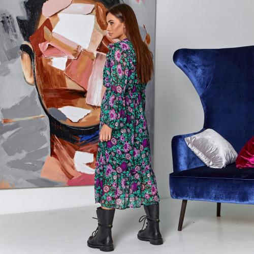 Платье с цветочным принтом 10169-1