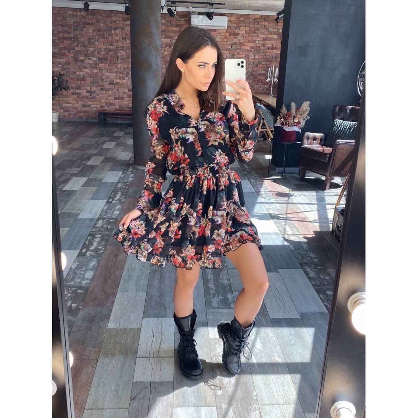 Платье с цветочным принтом 11532