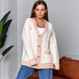 Вязаный свитер на пуговицах 5828-1