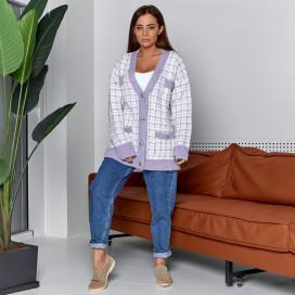 Вязаный свитер на пуговицах 5828-2