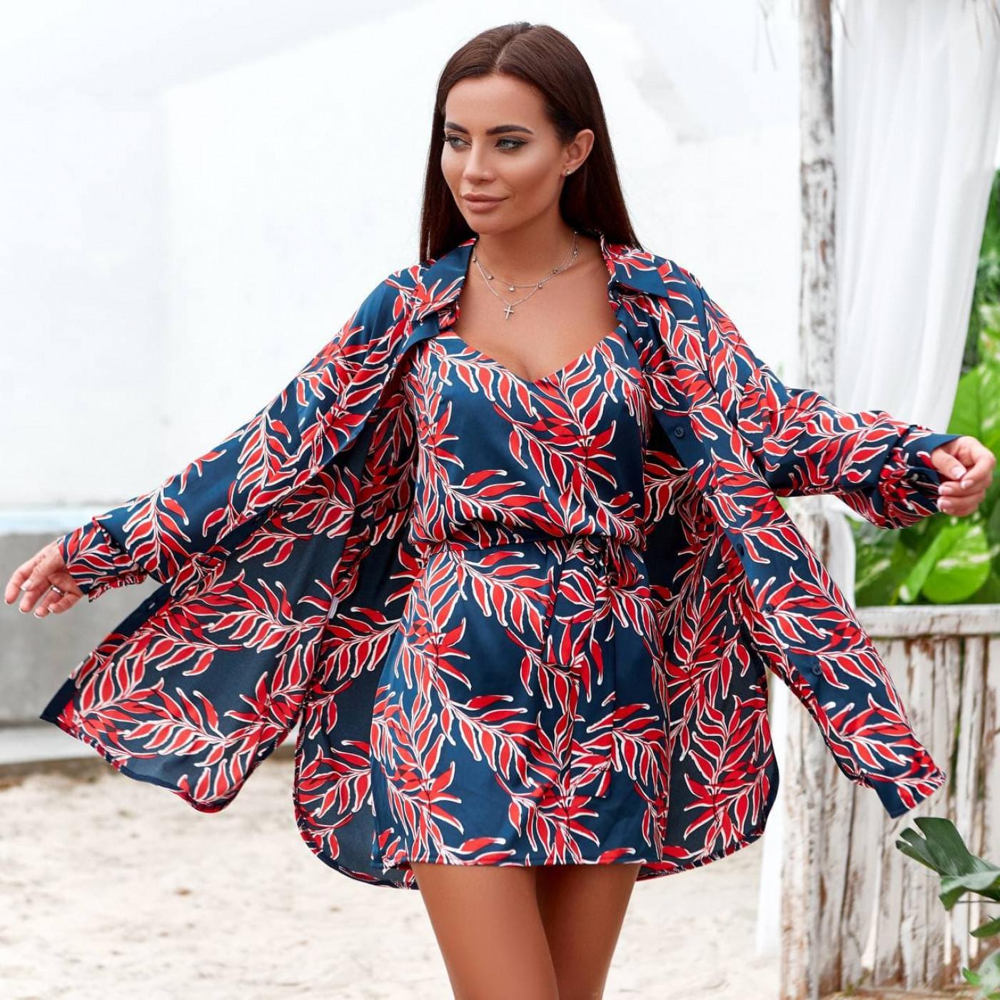 Костюм двойка сарафан+блуза 11821-4