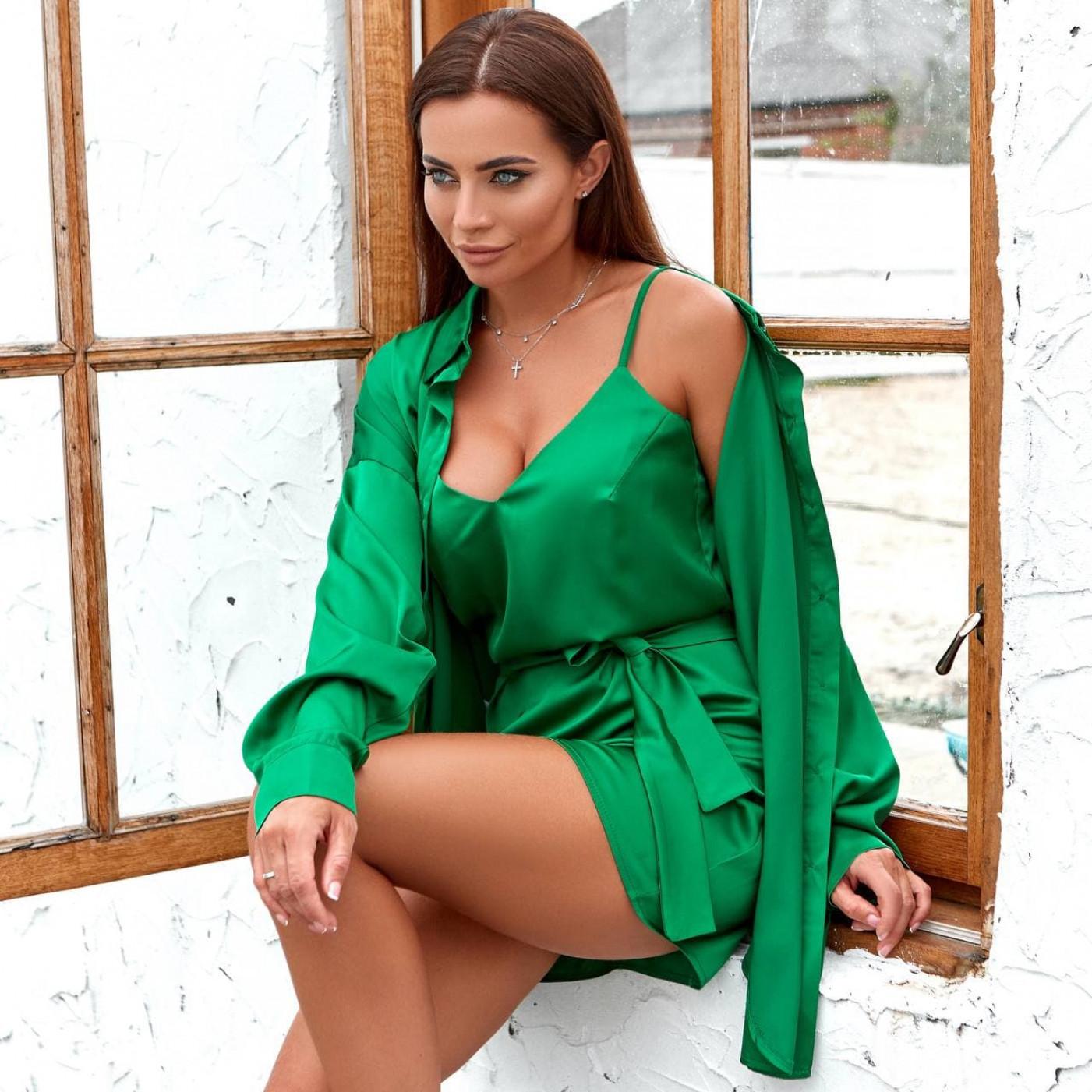 Костюм двойка сарафан+блуза 11821-2