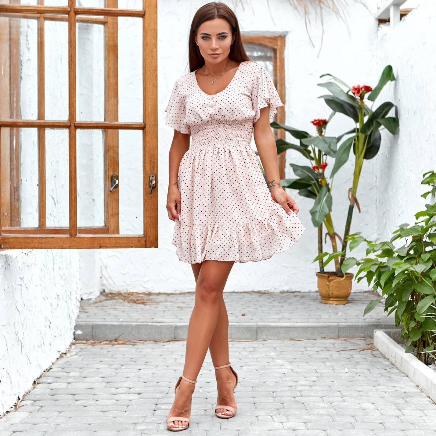 Летнее платье мини в горошек 11822-2