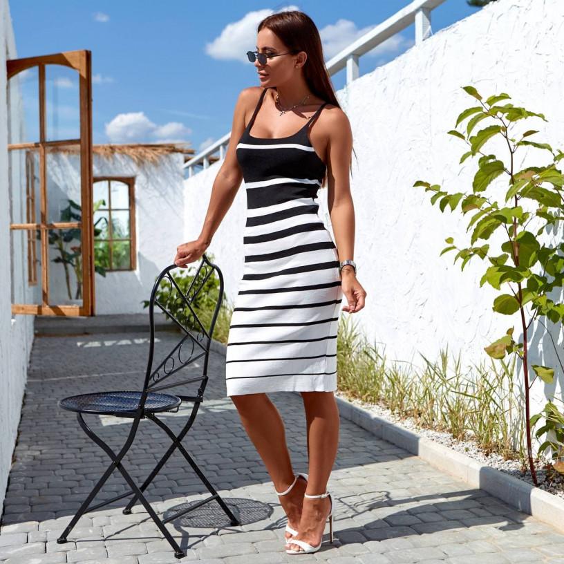 Літня сукня в полоску 8660-1