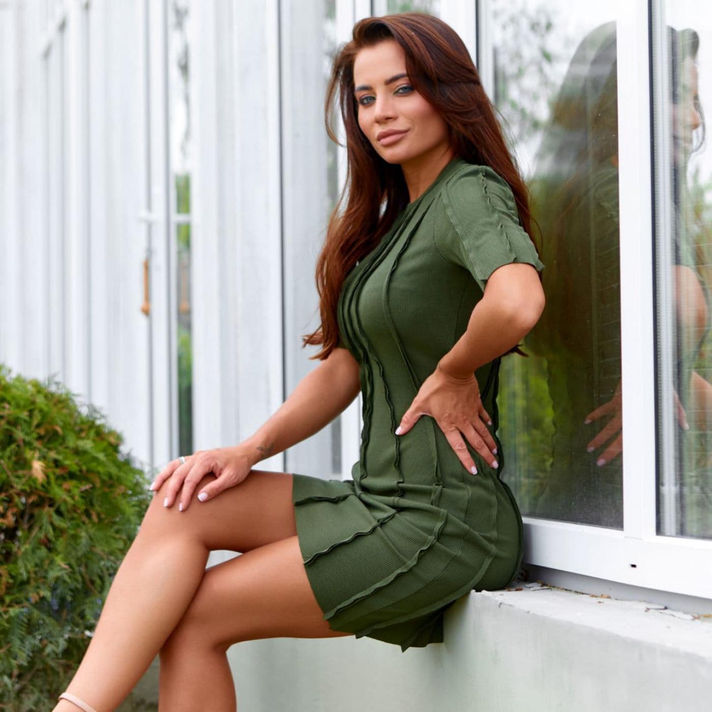 Бандажное платье 11813-3