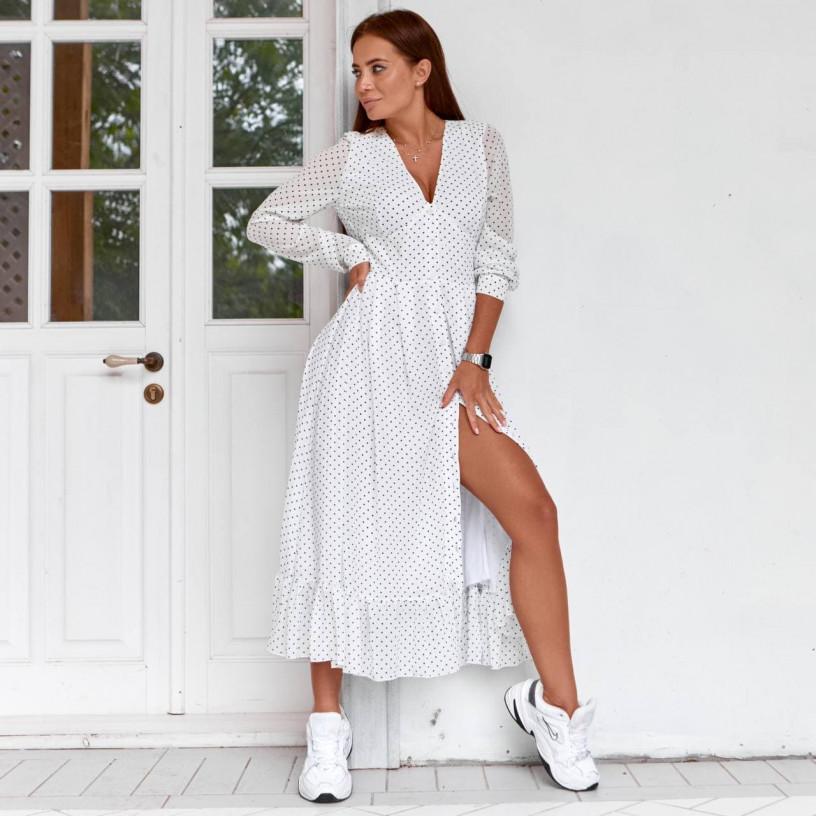 Шифоновое платье с оборкой 11750-3