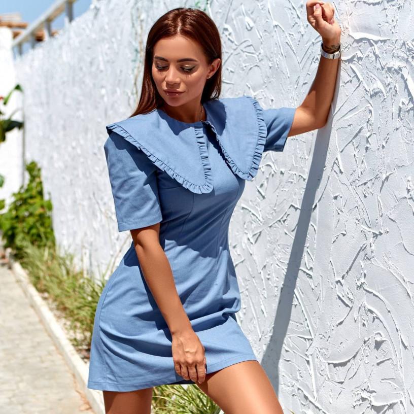 Летнее льняное платье 11825-2