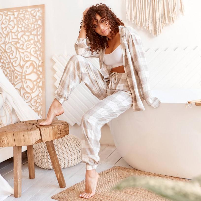 Уютная пижама-двойка 8130-1