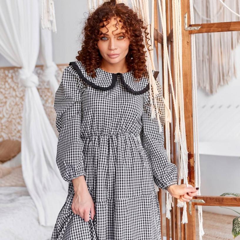 Платье с воротником 3434-1
