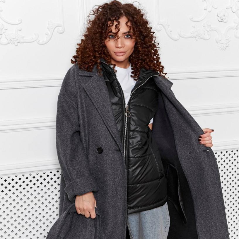 Пальто - двойка (пальто + жилет) 11751