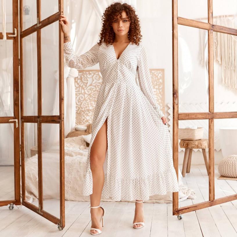 Шифонова сукня з воланом 11750-3