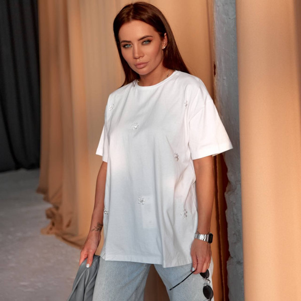 Базовая белая футболка 6978