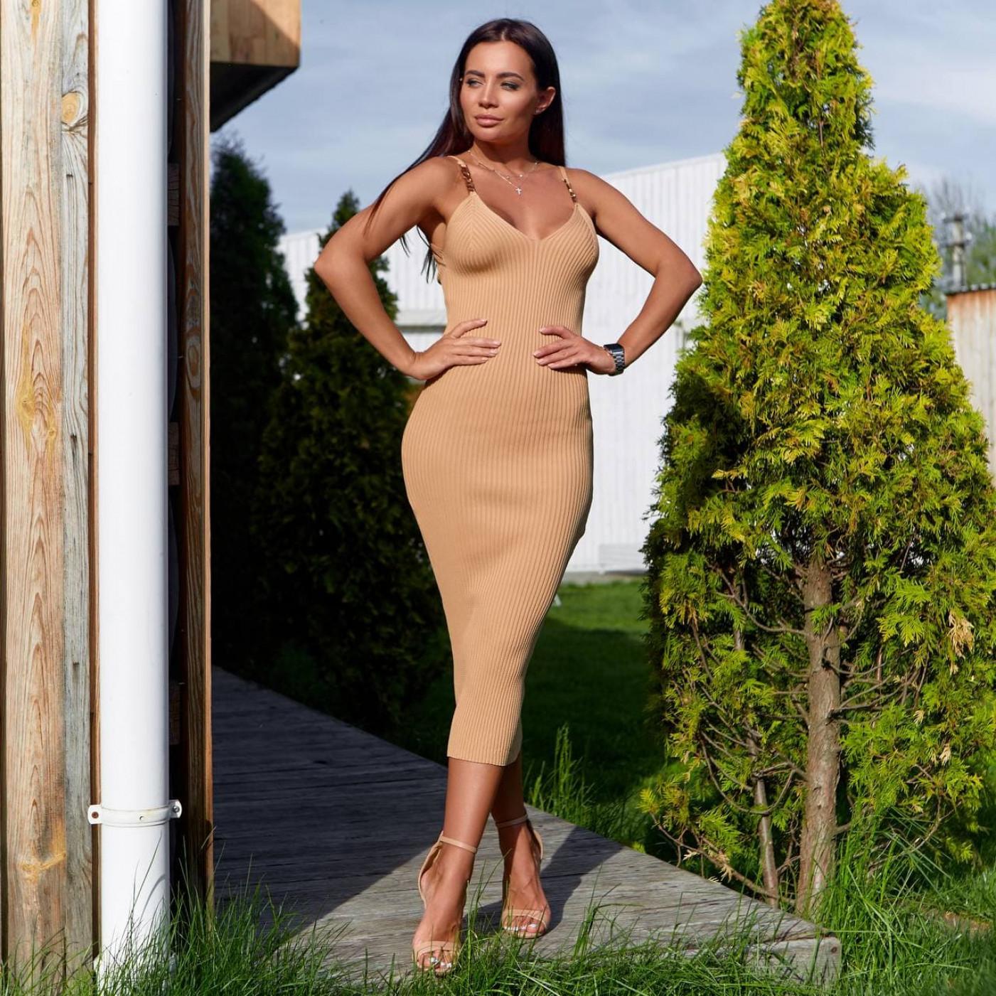 Платье с открытыми плечами 2518-1
