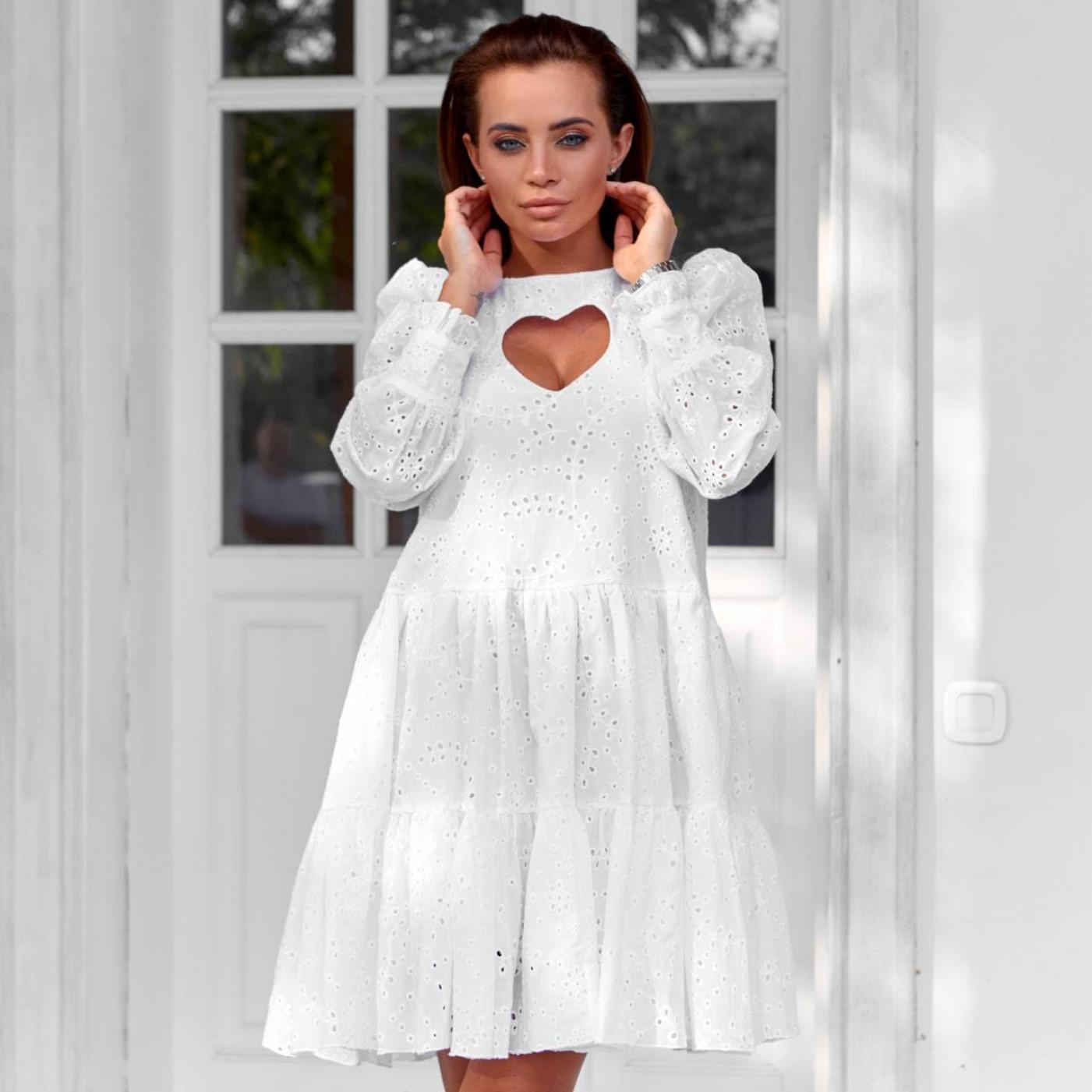 Платье из прошвы с нежным вырезом 11776-1