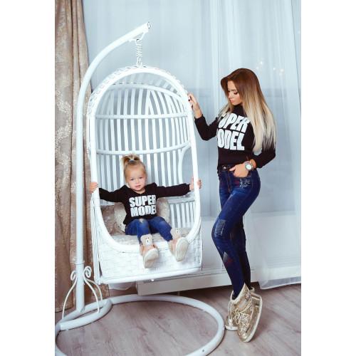 """Стильная детская кофта """"SUPER MODEL"""" 10460"""
