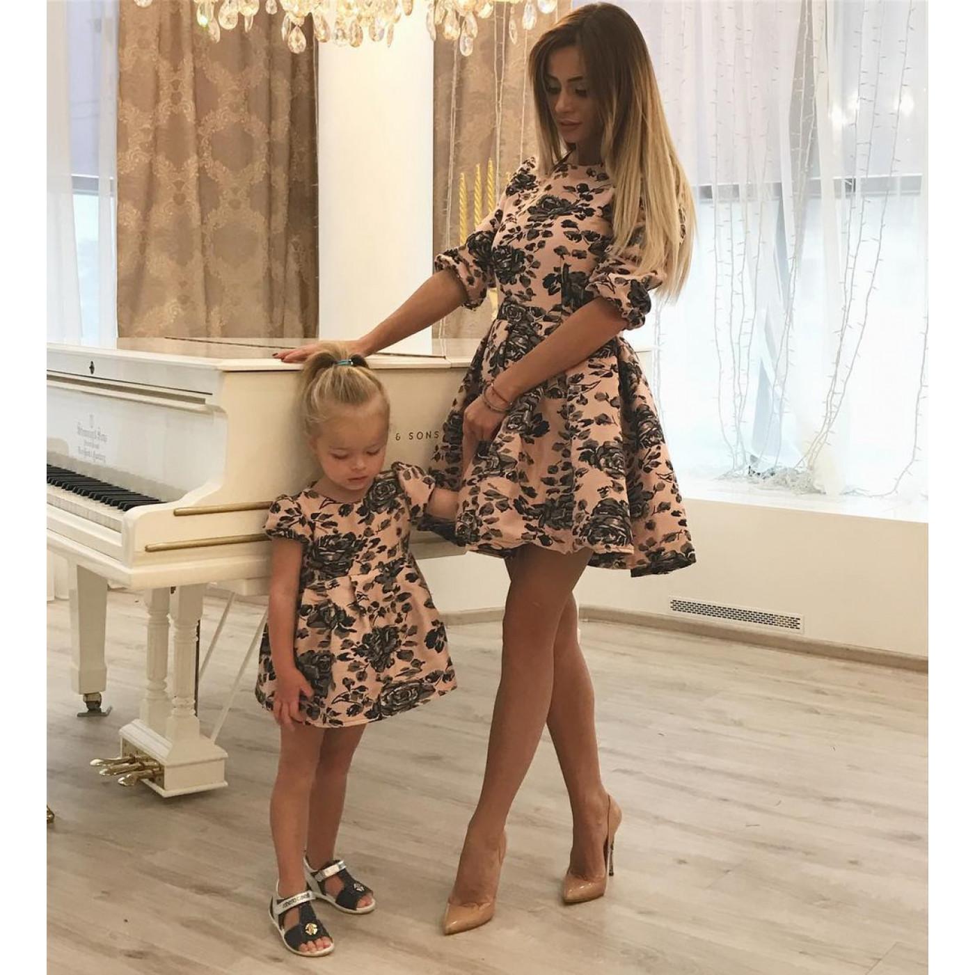 Роскошное детское платье Family Look 10679