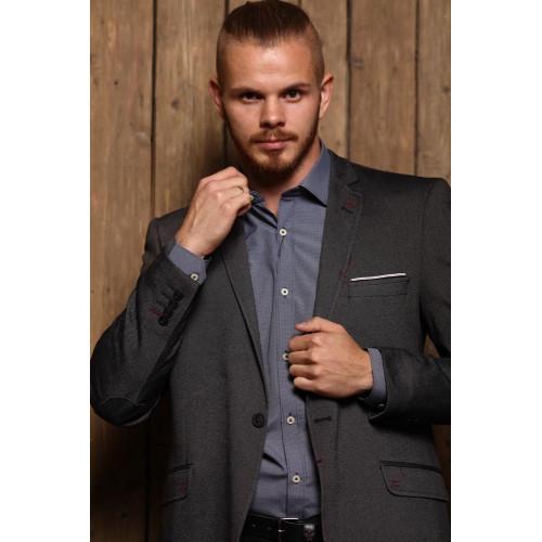 Пиджак мужской серый 7011