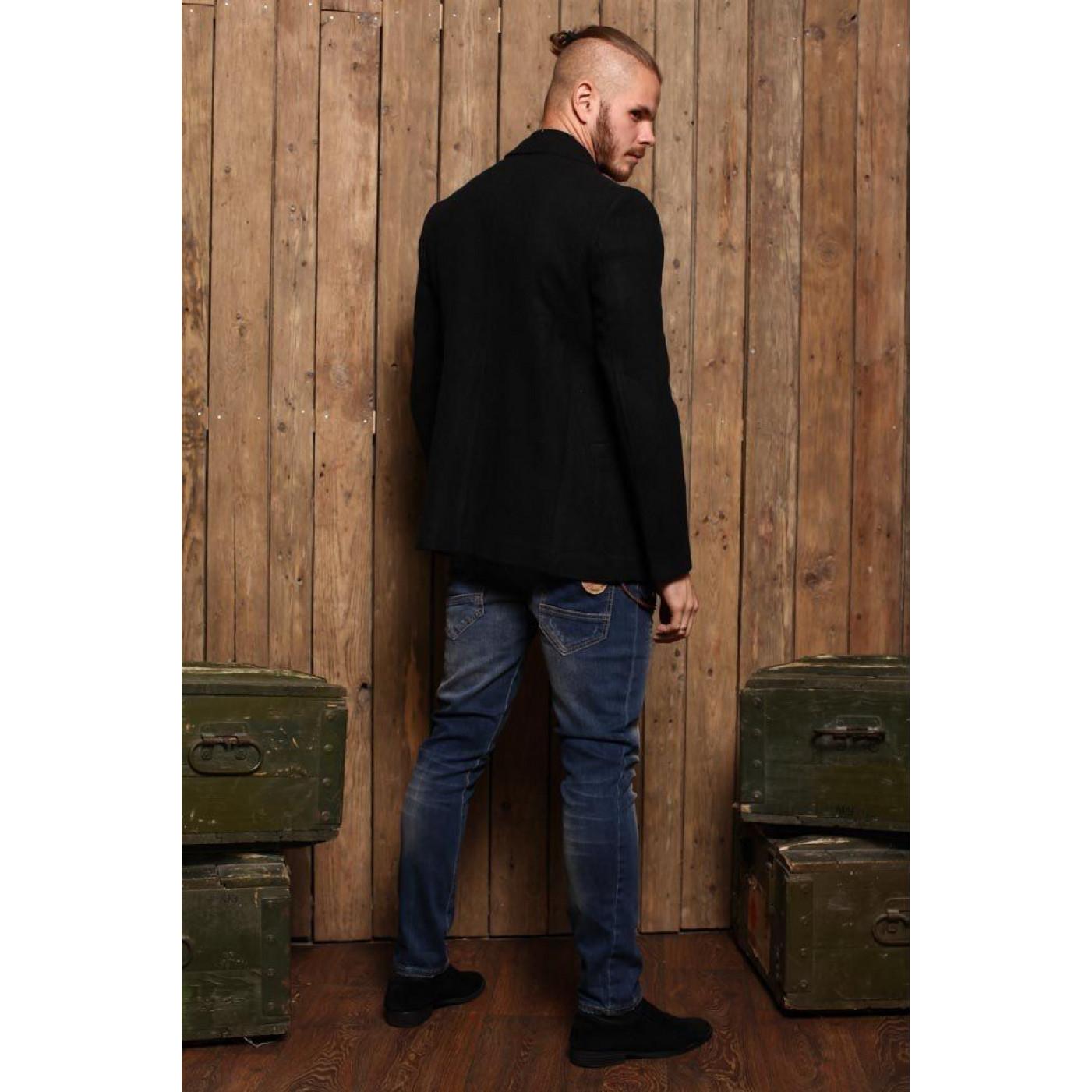 Пиджак черный классический 7010