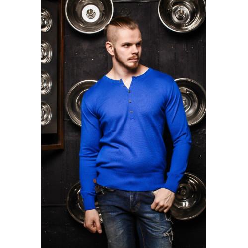 Джемпер мужской синий 7048