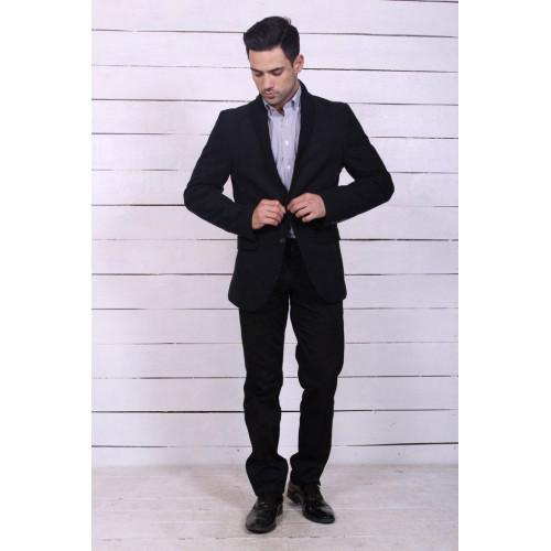 Пиджак черный мужской теплый 5571
