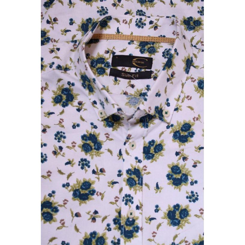 Сорочка чоловіча з квітами 7061