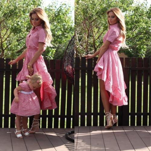 """Платье детское в клетку """"Кан-Кан"""" Family Look 10199"""