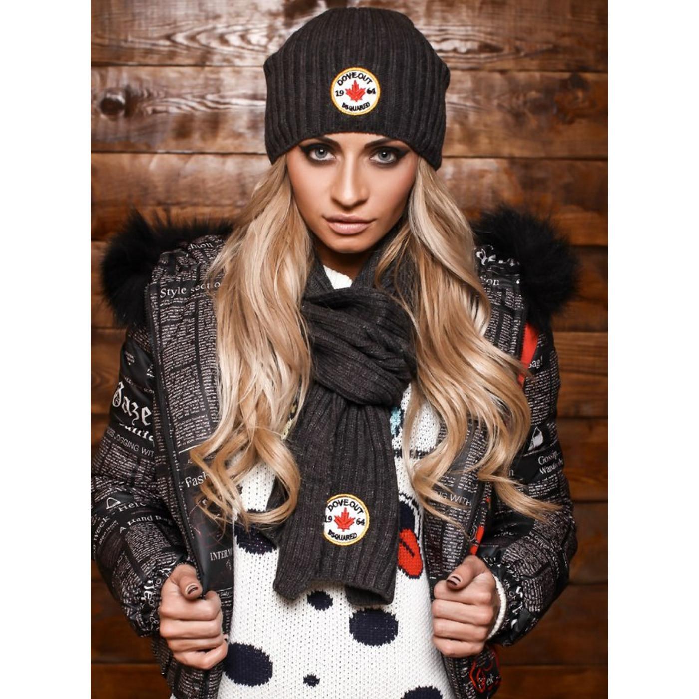 Шапка + шарф модель 5117