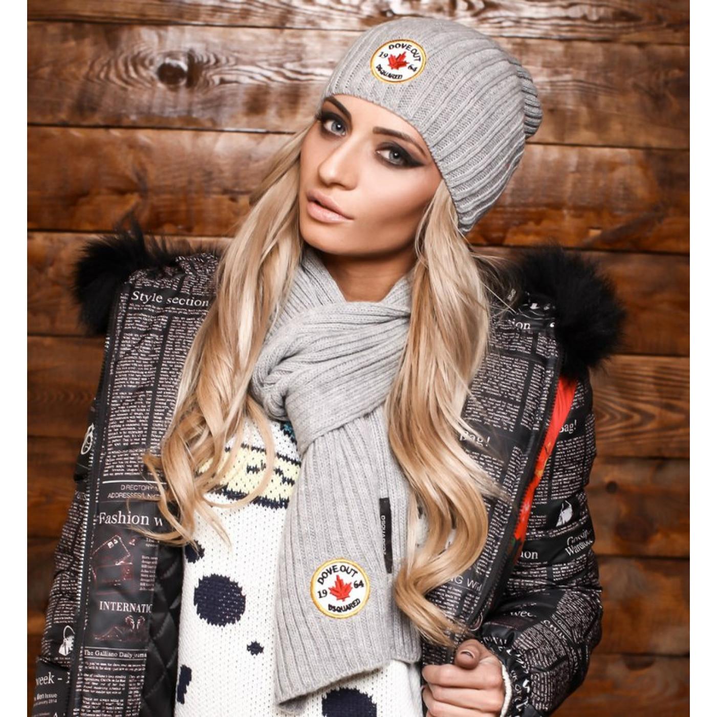 Шапка+шарф модель 5117