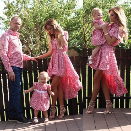 "Рубашка мужская в клетку ""Кан-Кан"" Family Look 10205"
