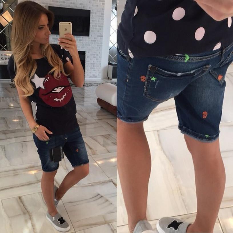 Женские джинсовые шорты 707
