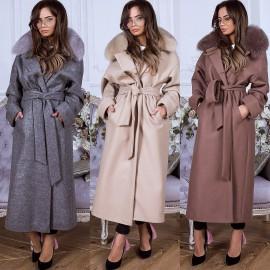Купить женское пальто с мехом в Украине