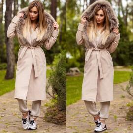 Женские пальто с мехом оптом от производителя